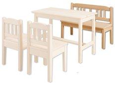 Dětská dřevěná jídelní lavice z masivu borovice