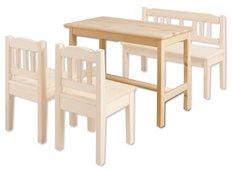 Dětský dřevěný jídelní stolek z masivu borovice