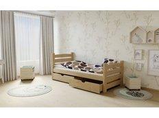 Dětská postel z MASIVU 200x90cm bez šuplíku - M04 moření olše