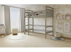 Vyvýšená dětská postel z MASIVU 200x90cm - M05 šedá