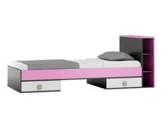 Dětská postel se šuplíky - PINK TYP B 200x90 cm