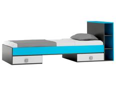 Dětská postel se šuplíky - BLUE TYP B 200x90 cm