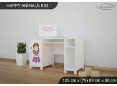 Dětský psací stůl PRINCEZNA A KONÍK - TYP 2