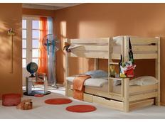 Dětská POSCHOĎOVÁ postel BARČA PLUS se šuplíky - přírodní