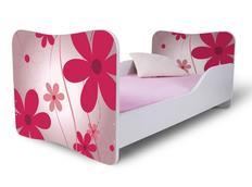 Dětská postel 180x80 cm - KVĚTY