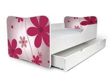 Dětská postel se šuplíkem - KVĚTY