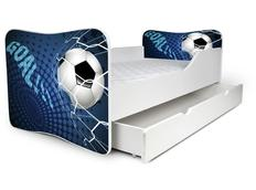 Dětská postel se šuplíkem FOTBAL modrá