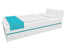 Dětská postel se šuplíkem - STARS 200x90 cm - tyrkysová