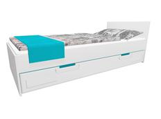 Dětská postel se šuplíkem - BOSTON 200x90 cm - tyrkysová