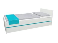 Dětská postel se šuplíkem - CITY 200x90 cm - tyrkysová