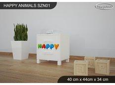 Dětský noční stolek HAPPY - TYP 1