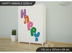 Dětská skříň HAPPY - TYP 9A