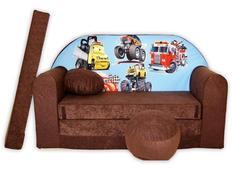 Dětská pohovka CARS - hnědá