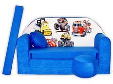 Dětská pohovka CARS - modrá