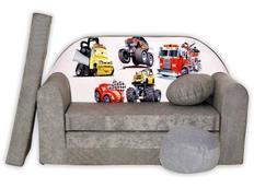 Dětská pohovka CARS - šedá