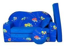 Dětská pohovka AUTA - modrá