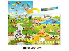 Dětský pěnový koberec - farma + pohádkový svět