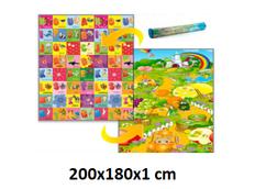 Dětský pěnový koberec - ovocná krajina + ABC