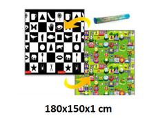 Dětský pěnový koberec - šachovnice + číselná ulička