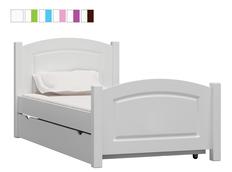 Dětská postel z masivu KIDS TYP B - bílá
