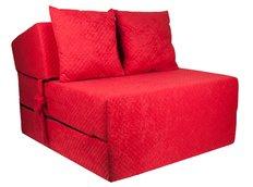 Rozkládací molitanové křeslo (matrace) - prošívané červené