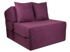 Rozkládací molitanové křeslo (matrace) - prošívané fialové