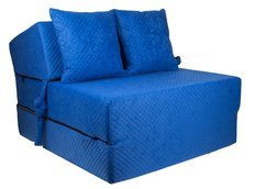 Rozkládací molitanové křeslo (matrace) - prošívané modré