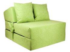Rozkládací molitanové křeslo (matrace) - prošívané zelené
