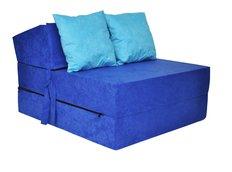 Rozkládací molitanové křeslo (matrace) - modré