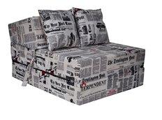 Rozkládací molitanové křeslo (matrace) - noviny