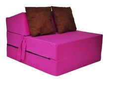 Rozkládací molitanové křeslo (matrace) - růžové