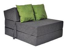 Rozkládací molitanové křeslo (matrace) - šedé