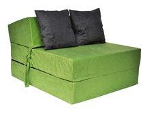 Rozkládací molitanové křeslo (matrace) - zelené