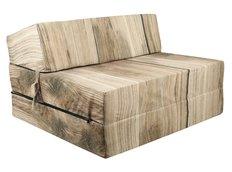 Rozkládací molitanová pohovka - dřevo