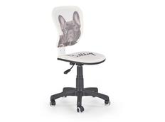 Dětská otočná židle FLYER bulldog bílá