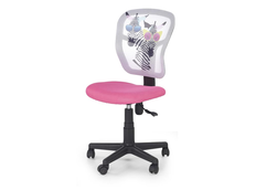Dětská otočná židle JUMP růžová