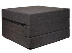 Rozkládací molitanová matrace 195x65x10 cm - tmavě šedá