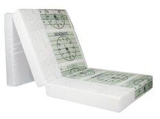 Rozkládací molitanová matrace 195x65x10 cm - hodiny