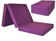 Rozkládací molitanová matrace 195x60x10 cm - fialová