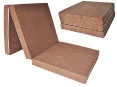 Rozkládací molitanová matrace 195x60x10 cm - karamelová