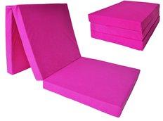 Rozkládací molitanová matrace 195x80x10 cm - růžová