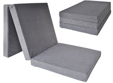 Rozkládací molitanová matrace 195x60x10 cm - šedá