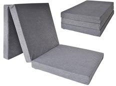 Rozkládací molitanová matrace 195x80x10 cm - šedá