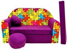 Dětská pohovka PUZZLE - fialová