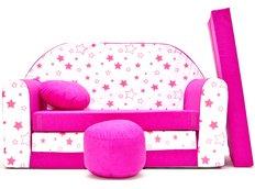Dětská pohovka HVĚZDIČKY - růžová