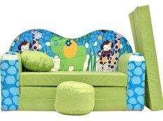 Dětská pohovka ZOO - zelená
