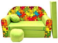Dětská pohovka PUZZLE - zelená