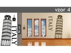 Samolepky na zeď MĚSTA XXL color - ITALY