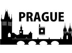 Samolepky na zeď MĚSTA XXL color - PRAGUE