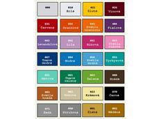 Vzorník barev samolepek